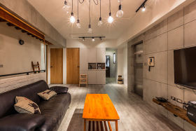 2016创意工业风美式风格客厅装潢图片赏析