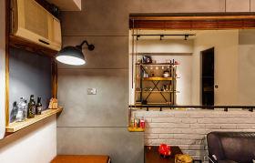 灰色美式风格隔断墙设计