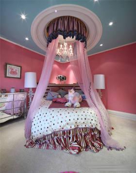 欧式浪漫粉色卧室装修布置