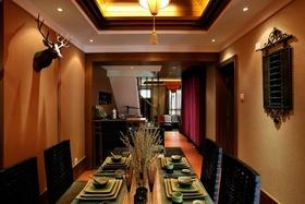 古典雅致橙色混搭风格餐厅设计案例