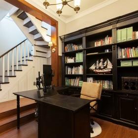 雅致时尚沉稳黑色美式书房美图欣赏