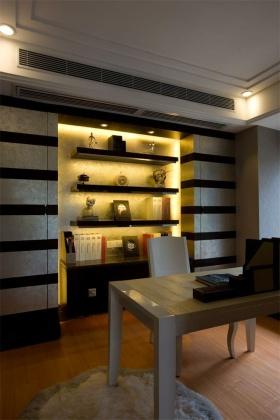黄色新中式风格书房装修美图赏析