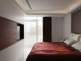 红色现代风格卧室设计案例