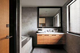 现代时尚灰色浴室柜赏析