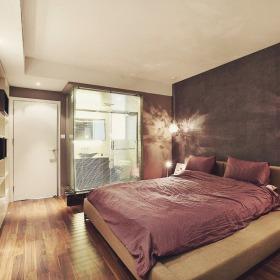 现代紫色雅致卧室设计案例