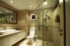 现代风格米色卫生间图片欣赏