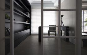 黑色现代风格书房装修效果图欣赏