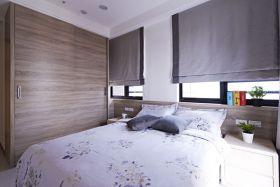 原木色现代风格卧室窗帘设计装潢