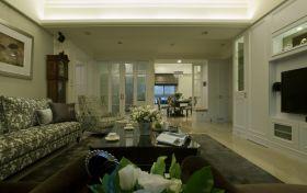 绿色美式乡村客厅装修设计欣赏