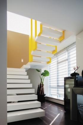 创意明亮简约风格楼梯装潢