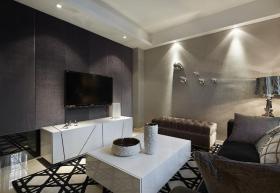 现代灰色背景墙设计装潢