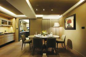 现代风格温馨黄色餐厅设计图