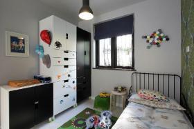 白色创意童趣简约儿童房装修布置