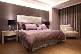 米色舒适大气现代风格卧室装潢设计