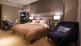 简欧高贵紫色卧室美图