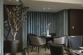 灰色典雅魅惑现代风格餐厅图片欣赏