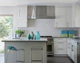 简约风格灰色厨房效果图