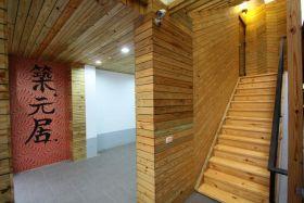橙色楼梯设计案例