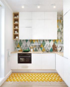 简约时尚白色厨房设计图片