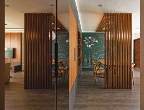 创意时尚混搭风格餐厅隔断设计图