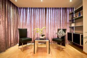 现代紫色客厅窗帘欣赏