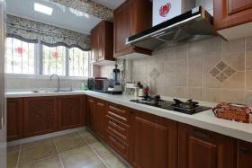 美式褐色厨房美图赏析
