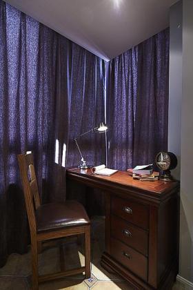 紫色中式风格书房装修案例
