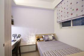 紫色简约风格卧室装修效果图