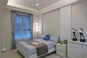 现代风格时尚白色卧室效果图欣赏
