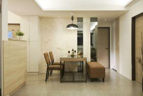 现代风格温馨米色餐厅装修设计