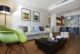 绿色清新简约风格客厅装修赏析