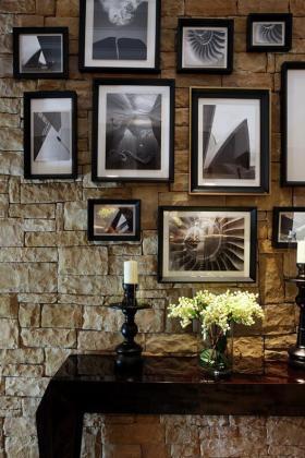 创意时尚复古美式照片墙设计