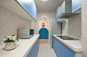 蓝色浪漫地中海风格厨房装潢案例