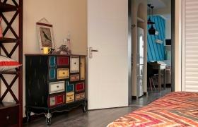混搭黑色摩登时尚个性收纳柜设计装潢图片