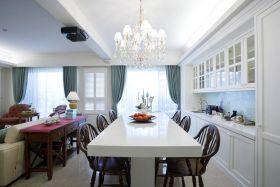 白色精致轻奢新古典餐厅装修