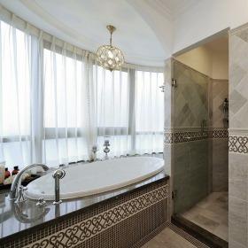 白色个性民族风东南亚风格卫生间装潢设计