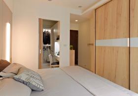 米色简约宜家风格卧室衣柜装潢设计