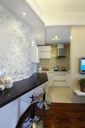 白色简约风格吧台壁纸设计图