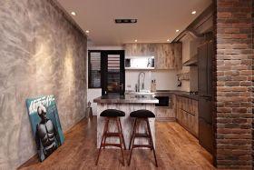 美式怀旧褐色厨房设计