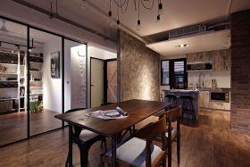 简约风格原木色餐厅装潢设计