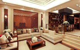 米色中式客厅效果图欣赏