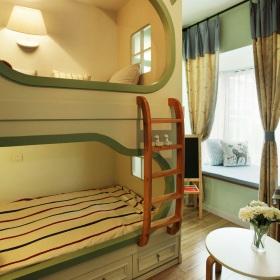 绿色温馨田园风格儿童房装修案例