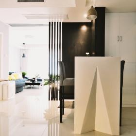 米色创意线条感现代风吧台装饰设计图片