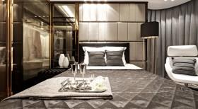 2016灰色新古典雅致风格卧室效果图欣赏