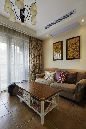 美式浪漫田园风格客厅设计案例