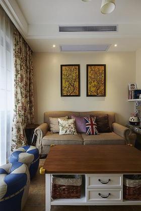 英伦范时尚田园风格客厅装修案例