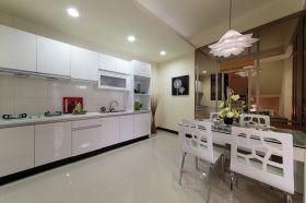 雅致大气宜家白色厨房橱柜设计装潢