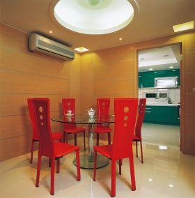 红色热情现代风格餐厅效果图赏析