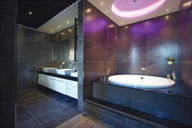摩登创意现代风格黑色卫生间装潢