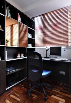 黑色现代风格书房装修效果图